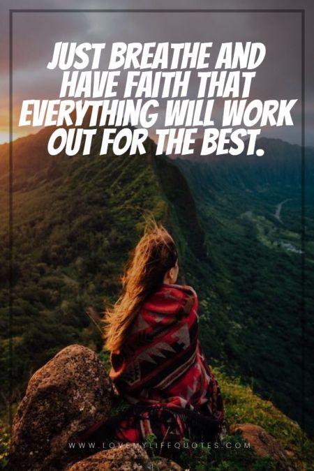 just breath and have faith