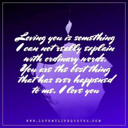lovingyou is something i cannot really explain