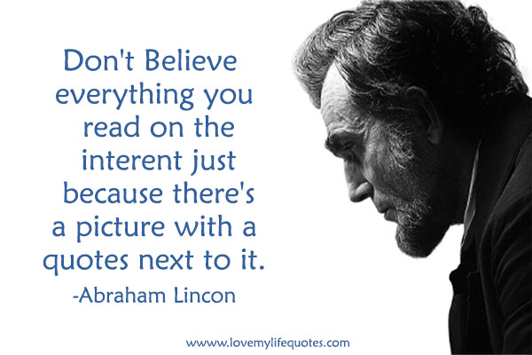 Abraham Lincoln Internet Quote
