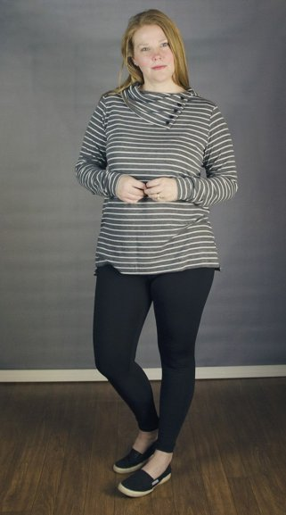 Terra Tunic in a drapey french terry