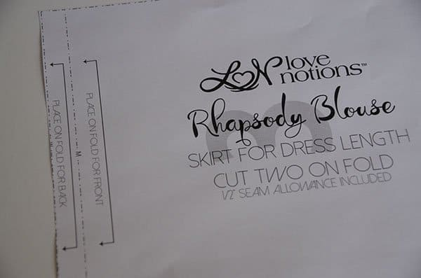 Rhapsody dress pattern hack