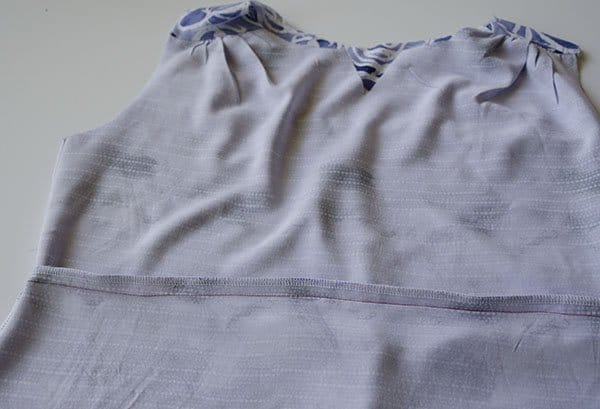 Rhapsody sewalong french seams dress hack