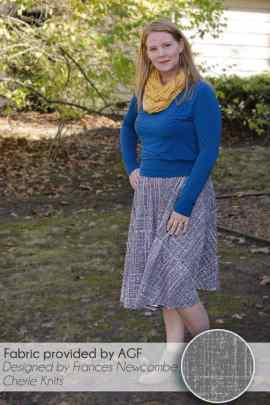 Swing skirt in En Route Knit in Gravel by Frances Newcombe