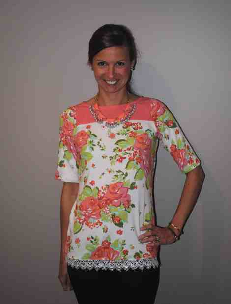 Tabitha Top with trim