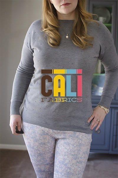 Sabrina Slims in Cali Fabrics floral stretch denim
