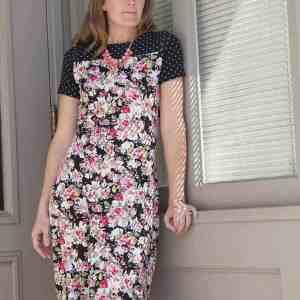 Tessa Sheath Dress with yoke