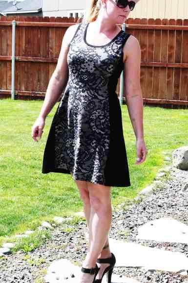 Tidal tank knee length dress