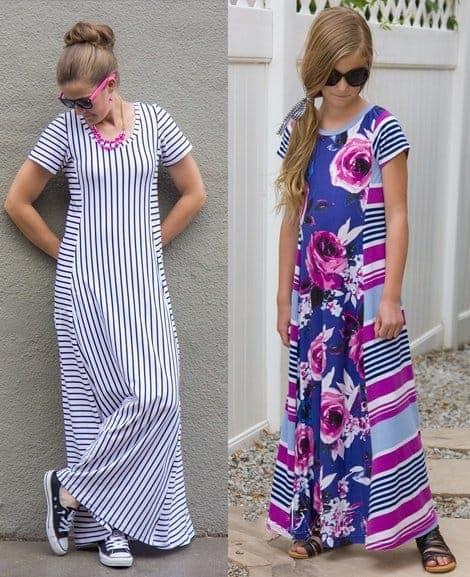Ladies & Girls Tidal Top & Dress