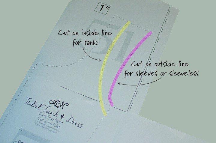 Tidal cut lines