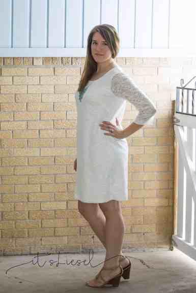 Knee length Cadence with 3/4 length sleeves