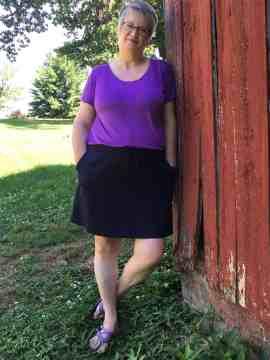 Allegro knee length skirt
