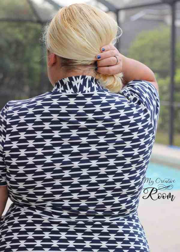 Short sleeve knee length Olympia Dress