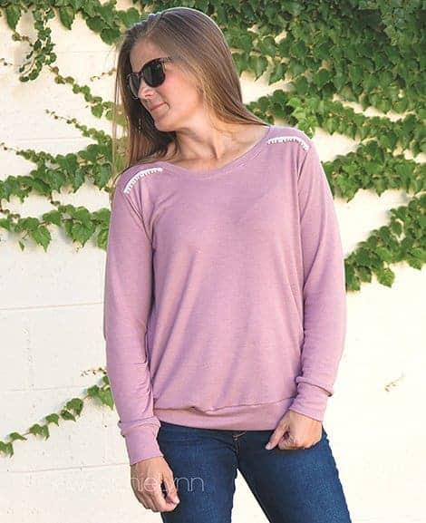 Sloane Sweater pullover ladies pattern