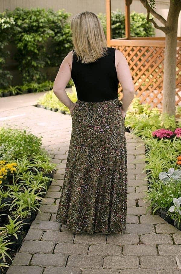 Sleeveless maxi length Olympia Dress