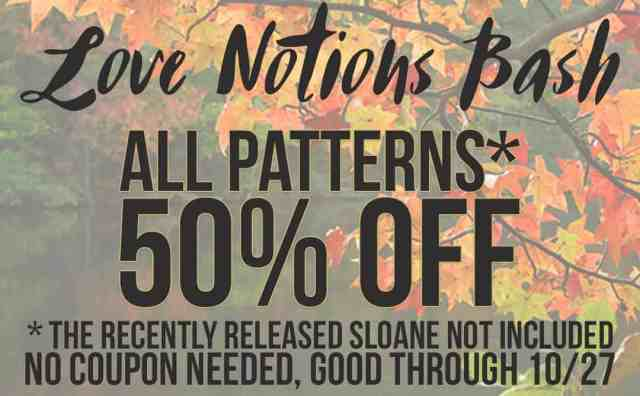Love Notions pattern sale