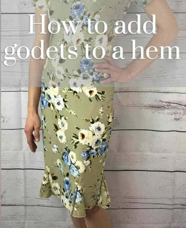 How to add godets to a hem