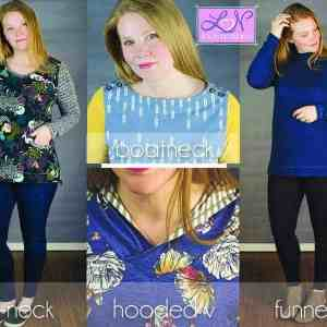 neckline options for the Terra Tunic