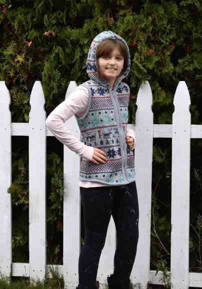 girls vest pattern