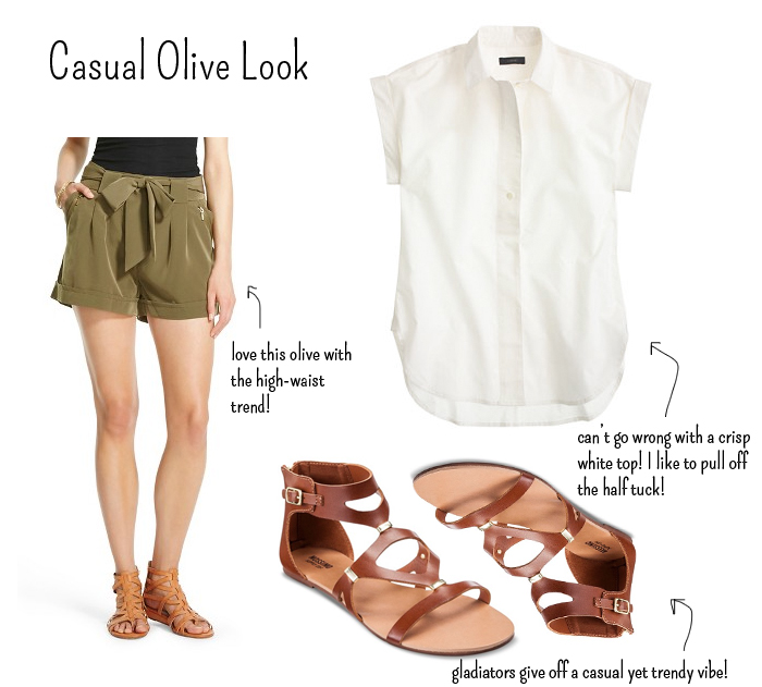 casual olive trend