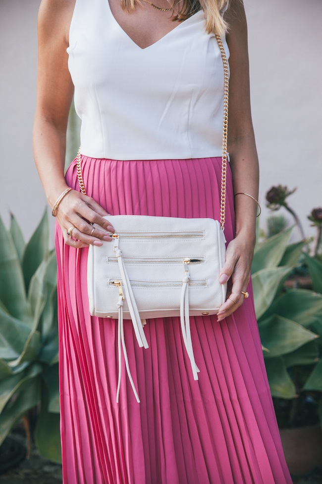 tommy hilfiger pink pleated skirt