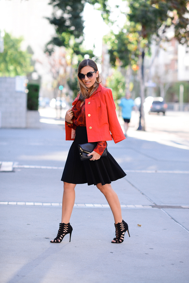 Cabi Fall Outfit Red Black