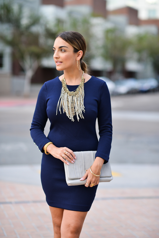 dynamite bodycon navy dress