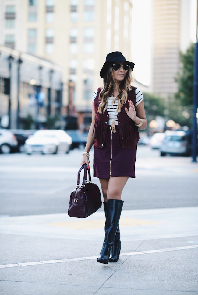 burgundy outfit olia