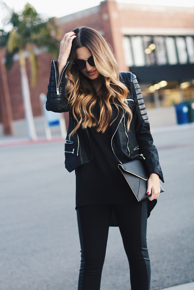 all black moto outfit