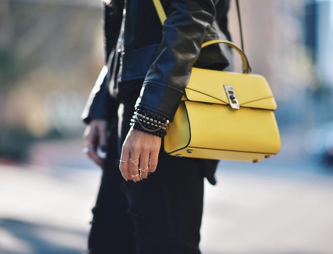yellow henri bendel uptown bag