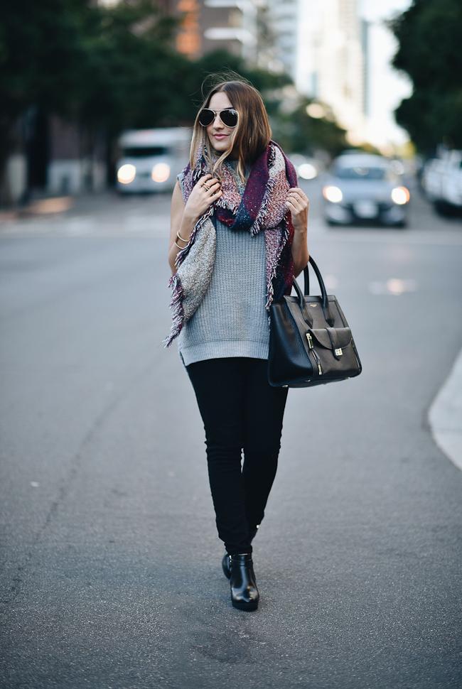 topshop sleeveless grey sweater