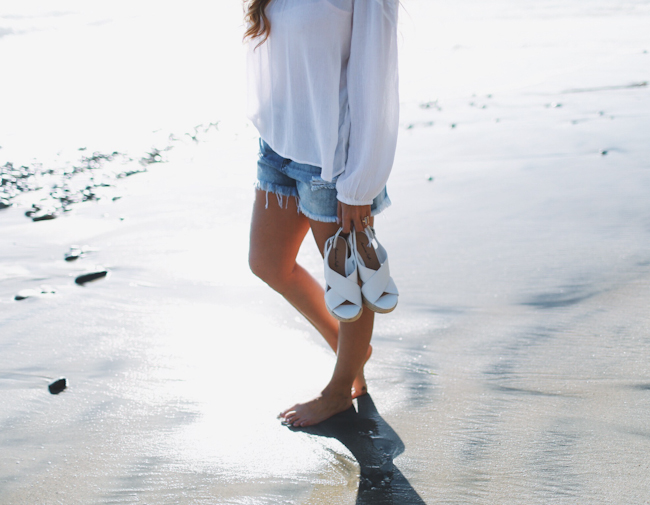 Payless White Wedges
