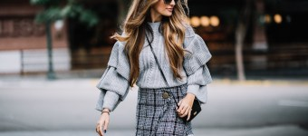 Perfect in a Plaid Tweed Skirt