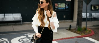 Tiered Sleeves & Lace Up Skirts