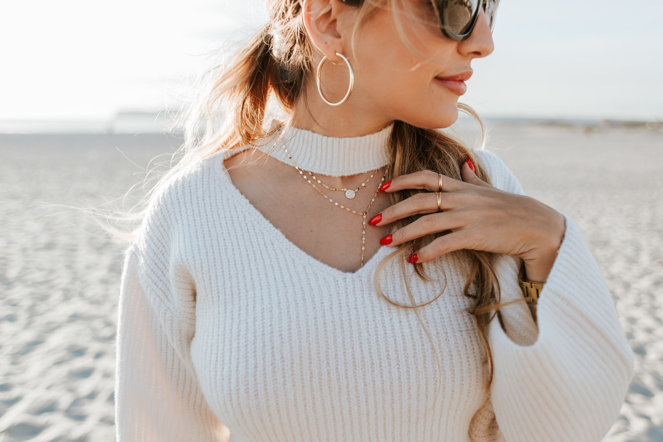 Guess Choker Sweater Coronado