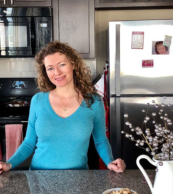 Angelika Ilina in her kitchen