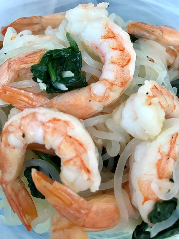 Low Carb Shirataki Noodles with Shrimp