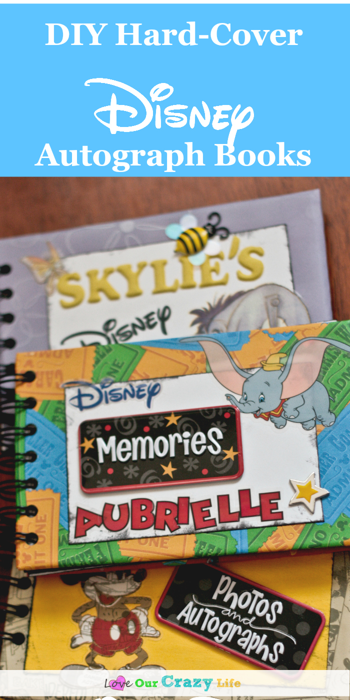 Super cute DIY Disney Autograph Books with Hard Covers!!! Great tutorial for a personalized autograph book for your Disney vacation.