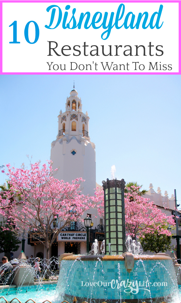 Dining at Disneyland Resort can be an experience all its own. Feeling overwhelmed with all the choices? Check out these 10 Disneyland (and California adventure) restaurants you won't want to miss.  Disney | California | Dining | Restaurants | Travel | Travel With Kids