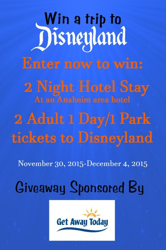 Win a trip to Disneyland from Get Away Today