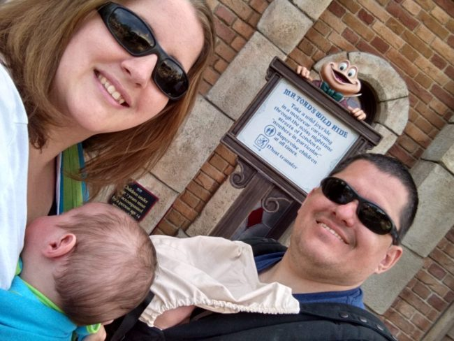 Babywearing on ride and other great disneyland tips