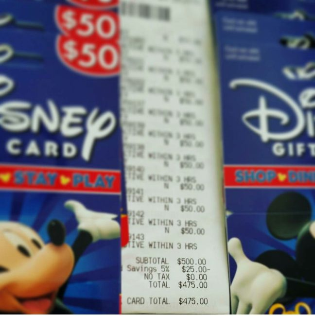 Best ways to save on a Disneyland vacation- 5% off gift cards