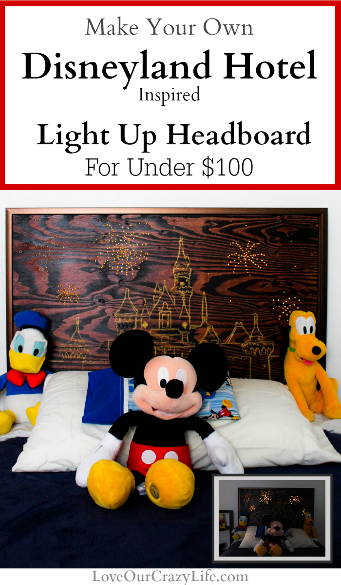 How to Make your own Disneyland Hotel Headboard or Wall Art. Great DIY project for the Disney lover, Home Decor project