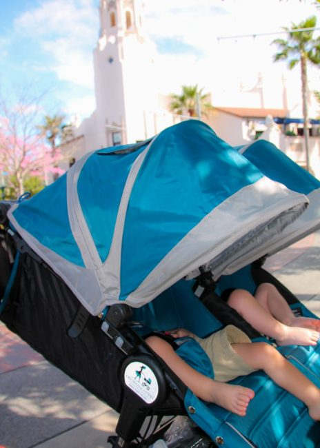Stroller as a wheelchair for DIsney Disability Access System