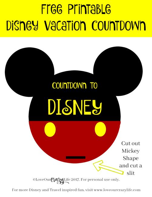 Free Printable Countdown To Disney This Crazy Adventure
