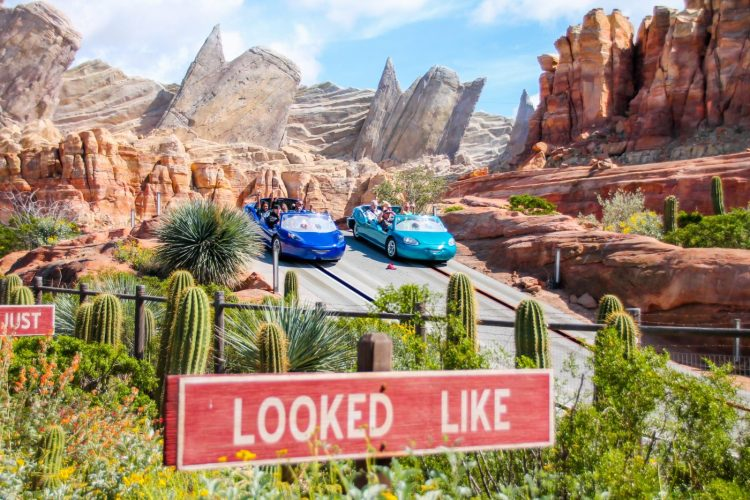 DIsneyland Vacation Radiator Springs Racers Cars Land