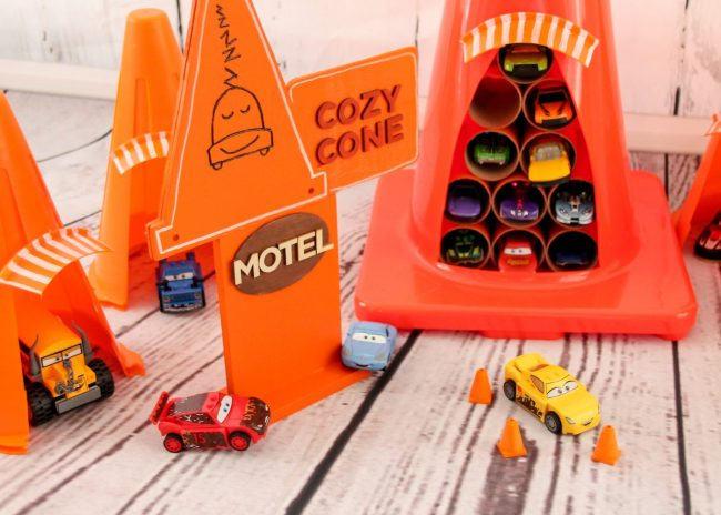 This DIY Cars Cozy Cone Motel