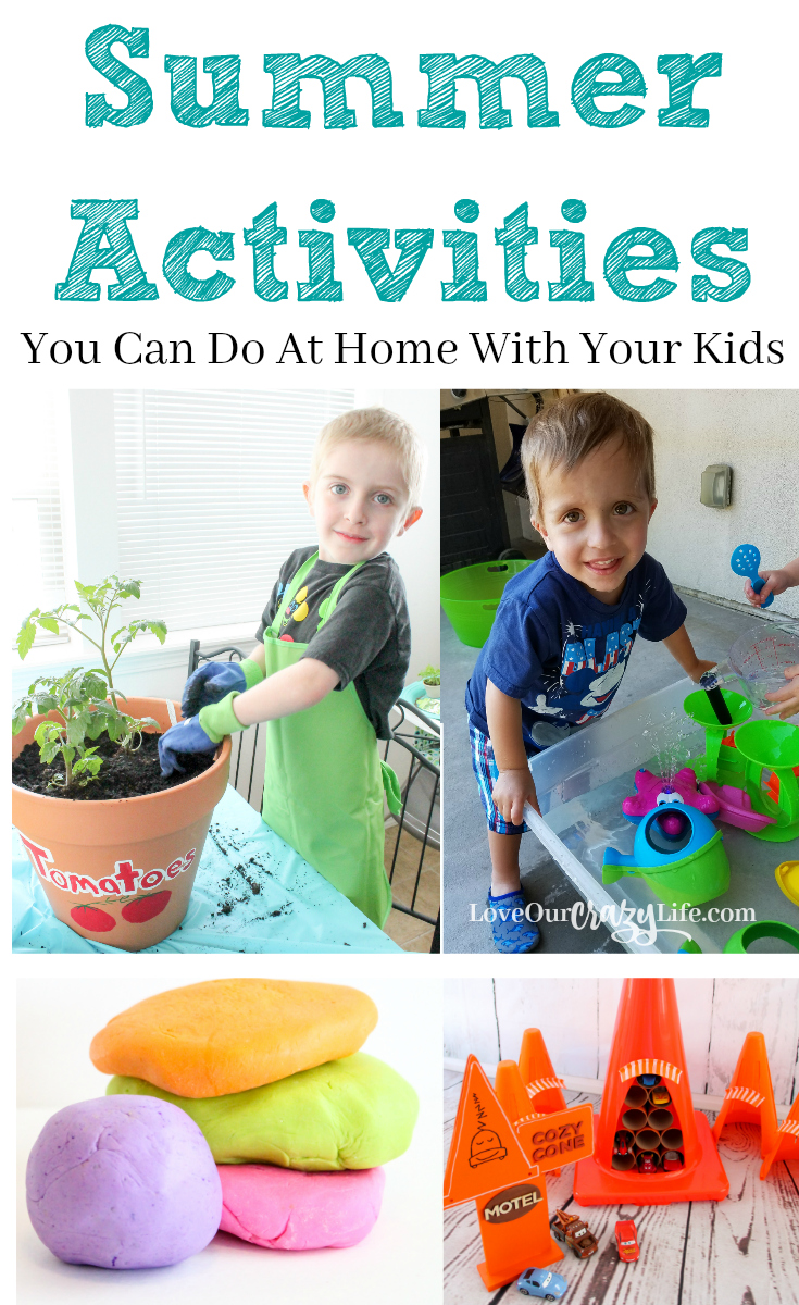Summer activities to do at home with your kids this for Doing crafts at home for money
