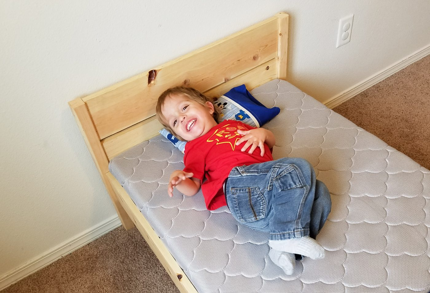 DIY Toddler Bed Helps Transition From Crib To Big Kid Bed