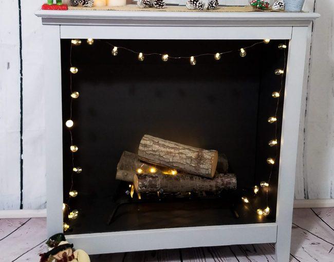 DIY – Old Bookshelf To Faux Fireplace