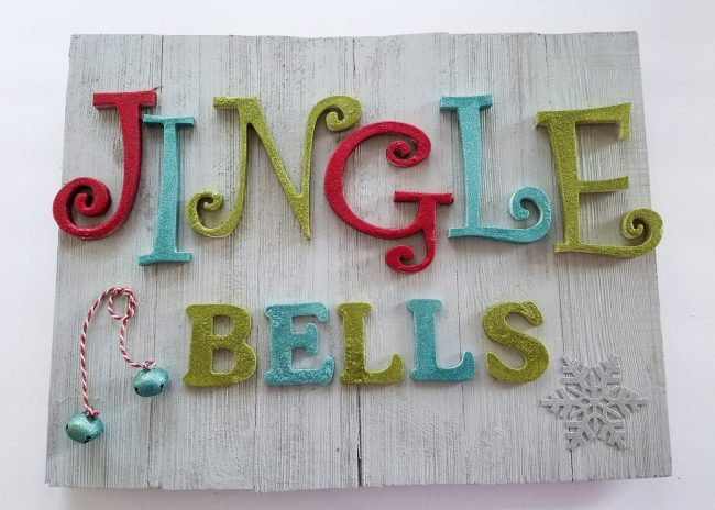 DIY wooden holiday sign
